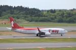KAZFLYERさんが、成田国際空港で撮影したティーウェイ航空 737-8KNの航空フォト(写真)