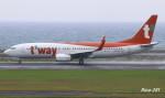 RINA-281さんが、大分空港で撮影したティーウェイ航空 737-8ASの航空フォト(写真)