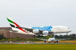 SGR RT 改さんが、成田国際空港で撮影したエミレーツ航空 A380-861の航空フォト(写真)