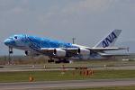 anyoziさんが、新千歳空港で撮影した全日空 A380-841の航空フォト(写真)