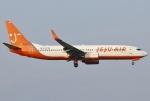 あしゅーさんが、福岡空港で撮影したチェジュ航空 737-83Nの航空フォト(飛行機 写真・画像)