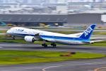 マツさんが、羽田空港で撮影した全日空 787-9の航空フォト(写真)