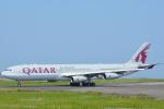 KIKUSANさんが、宮崎空港で撮影したカタール航空 A340-313Xの航空フォト(写真)