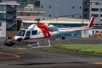 まんぼ しりうすさんが、東京ヘリポートで撮影した朝日航洋 AS355F2 Ecureuil 2の航空フォト(写真)