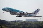 planetさんが、成田国際空港で撮影した全日空 A380-841の航空フォト(写真)
