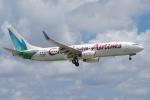 zettaishinさんが、マイアミ国際空港で撮影したカリビアン航空 737-8Q8の航空フォト(写真)