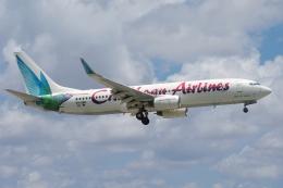 zettaishinさんが、マイアミ国際空港で撮影したカリビアン航空 737-8Q8の航空フォト(飛行機 写真・画像)