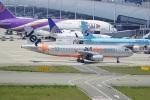 てつさんが、関西国際空港で撮影したジェットスター・アジア A320-232の航空フォト(写真)