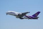 てつさんが、関西国際空港で撮影したタイ国際航空 A380-841の航空フォト(飛行機 写真・画像)