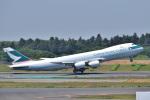 @たかひろさんが、成田国際空港で撮影したキャセイパシフィック航空 747-867F/SCDの航空フォト(写真)