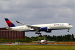 こだしさんが、成田国際空港で撮影したデルタ航空 A350-941XWBの航空フォト(飛行機 写真・画像)