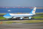 ちゃぽんさんが、羽田空港で撮影したアメリカ空軍 VC-25A (747-2G4B)の航空フォト(写真)