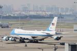 小牛田薫さんが、羽田空港で撮影したアメリカ空軍 VC-25A (747-2G4B)の航空フォト(写真)