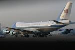 どらいすたーさんが、羽田空港で撮影したアメリカ空軍 VC-25A (747-2G4B)の航空フォト(写真)