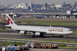 M.A.airphotoさんが、羽田空港で撮影したカタール航空 A340-313Xの航空フォト(飛行機 写真・画像)
