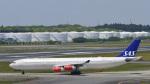 パンダさんが、成田国際空港で撮影したスカンジナビア航空 A340-313Xの航空フォト(飛行機 写真・画像)