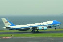 Hiro-hiroさんが、羽田空港で撮影したアメリカ空軍 VC-25A (747-2G4B)の航空フォト(飛行機 写真・画像)