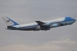 ハルモンさんが、羽田空港で撮影したアメリカ空軍 VC-25A (747-2G4B)の航空フォト(写真)