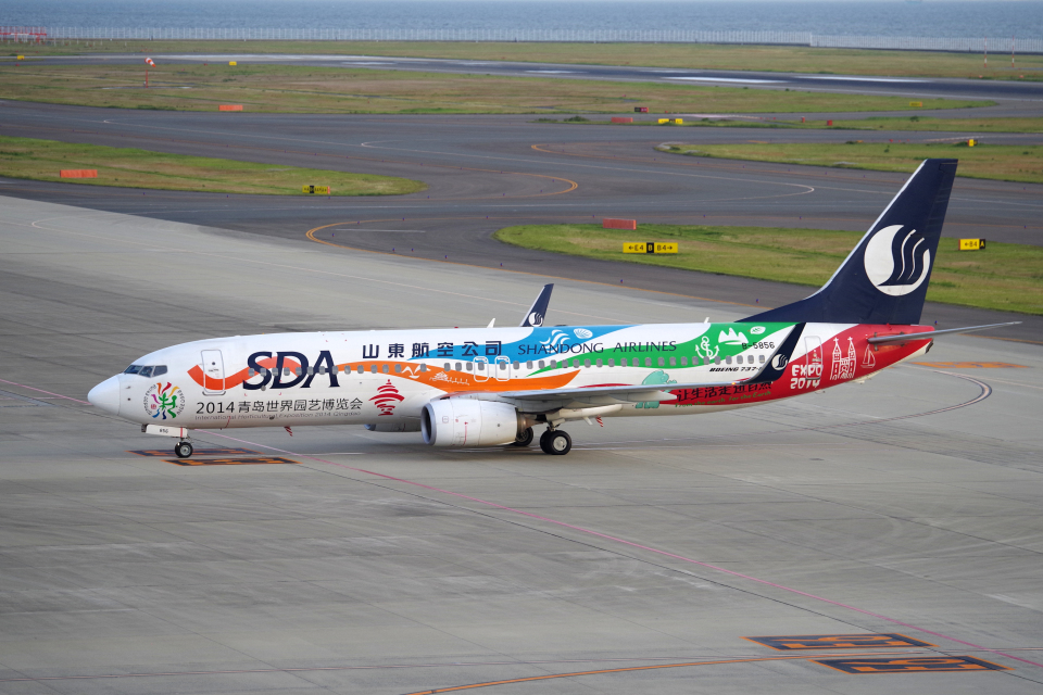 yabyanさんの山東航空 Boeing 737-800 (B-5856) 航空フォト