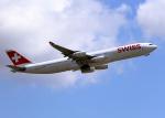 tuckerさんが、成田国際空港で撮影したスイスインターナショナルエアラインズ A340-313Xの航空フォト(写真)