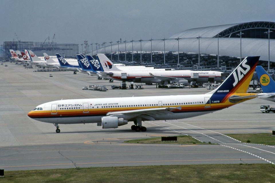 日本エアシステム Airbus A300-600 JA011D 関西国際空港 航空フォト ...
