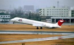 ハミングバードさんが、名古屋飛行場で撮影した日本航空 MD-81 (DC-9-81)の航空フォト(飛行機 写真・画像)