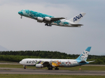 jjieさんが、新千歳空港で撮影した全日空 A380-841の航空フォト(飛行機 写真・画像)