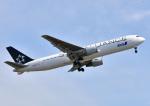 じーく。さんが、広島空港で撮影した全日空 767-381/ERの航空フォト(飛行機 写真・画像)