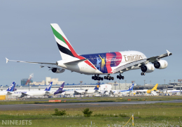NINEJETSさんが、成田国際空港で撮影したエミレーツ航空 A380-861の航空フォト(飛行機 写真・画像)