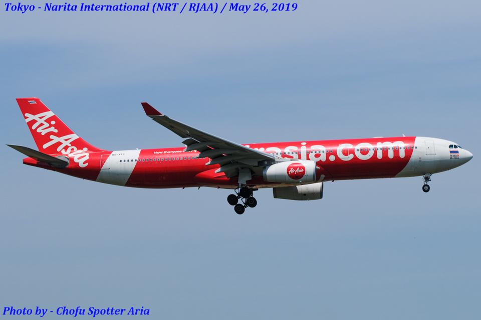 Chofu Spotter Ariaさんのタイ・エアアジア・エックス Airbus A330-300 (HS-XTG) 航空フォト