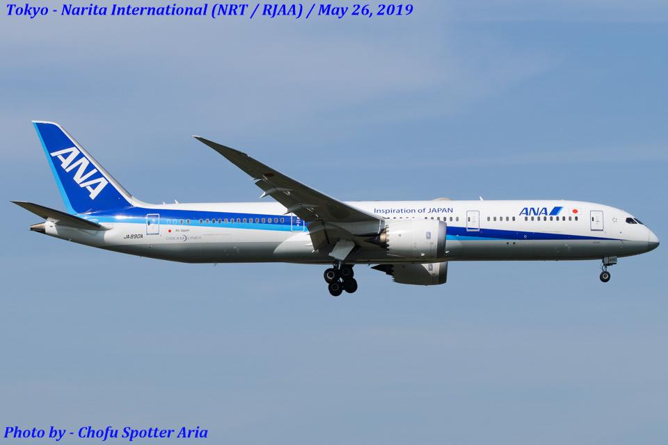 Chofu Spotter Ariaさんの全日空 Boeing 787-9 (JA890A) 航空フォト