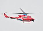 じーく。さんが、岡山空港で撮影した岡山県消防防災航空隊 412EPの航空フォト(飛行機 写真・画像)