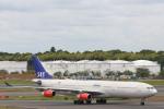 安芸あすかさんが、成田国際空港で撮影したスカンジナビア航空 A340-313Xの航空フォト(写真)