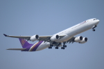 mogusaenさんが、成田国際空港で撮影したタイ国際航空 A340-642の航空フォト(飛行機 写真・画像)