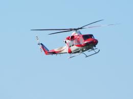 ここはどこ?さんが、朝日航洋札幌航空支社石狩基地で撮影した札幌市消防局消防航空隊 412EPの航空フォト(飛行機 写真・画像)