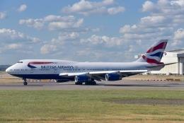 cornicheさんが、ロンドン・ヒースロー空港で撮影したブリティッシュ・エアウェイズ 747-436の航空フォト(飛行機 写真・画像)