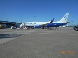 niftyさんが、デュッセルドルフ国際空港で撮影したブルー・エア 737-82Rの航空フォト(飛行機 写真・画像)
