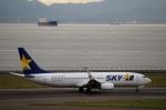ハピネスさんが、中部国際空港で撮影したスカイマーク 737-86Nの航空フォト(飛行機 写真・画像)
