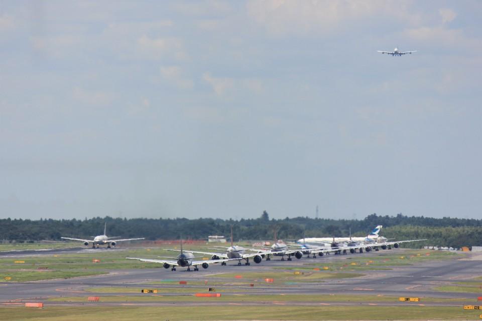 メンチカツさんの日本貨物航空 Boeing 747-8 (JA13KZ) 航空フォト