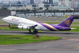まくろすさんが、羽田空港で撮影したタイ国際航空 747-4D7の航空フォト(飛行機 写真・画像)