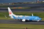 トロピカルさんが、羽田空港で撮影した日本トランスオーシャン航空 737-8Q3の航空フォト(写真)