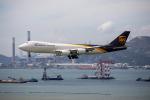 チャッピー・シミズさんが、香港国際空港で撮影したUPS航空 747-8Fの航空フォト(写真)