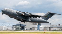 pinama9873さんが、伊丹空港で撮影したアメリカ空軍 C-17A Globemaster IIIの航空フォト(写真)