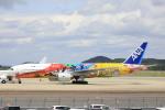 ピーチさんが、岡山空港で撮影した全日空 777-281/ERの航空フォト(写真)