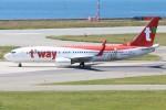 青春の1ページさんが、関西国際空港で撮影したティーウェイ航空 737-83Nの航空フォト(写真)