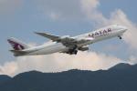 OMAさんが、香港国際空港で撮影したカタール航空カーゴ 747-87UF/SCDの航空フォト(写真)