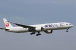 プルシアンブルーさんが、成田国際空港で撮影した日本航空 777-346/ERの航空フォト(写真)