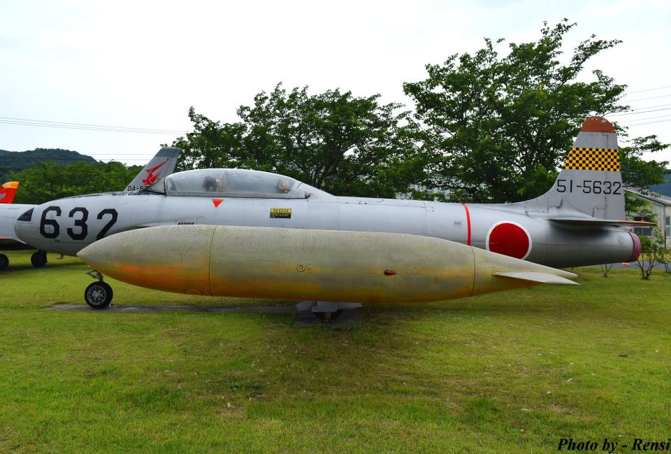 れんしさんの航空自衛隊 Lockheed T-33 Shooting Star (51-5632) 航空フォト