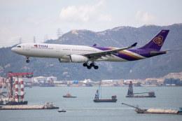 チャッピー・シミズさんが、香港国際空港で撮影したタイ国際航空 A330-343Xの航空フォト(写真)