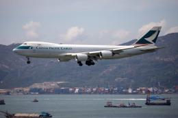 チャッピー・シミズさんが、香港国際空港で撮影したキャセイパシフィック航空 747-867F/SCDの航空フォト(写真)